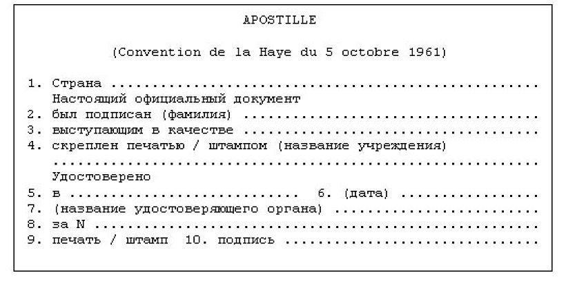 апостиль, перевод документов